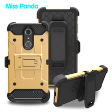 Armor Warrior Defender 3 in 1 Hybrid For ZTE GRAND X4 Sliding Cover Shockproof Phone Case With Stand PC TPU Carbon Fiber Design