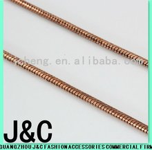 2012 new fashioned raw copper round snake chain
