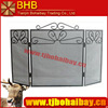 H24*W40/Black plastic coated fireplace screen