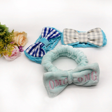 Factory custom bowknot creative spa elastic headband