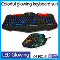 Combo set multimedia Tri-color backlit led keyboard mouse