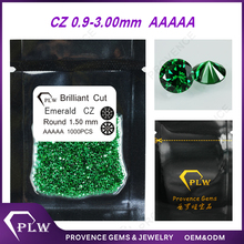AAAAA grade small round brilliant cut emerald synthetic cubic zirconia cz stone