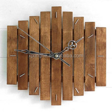 Wooden led wall alarm clock for family