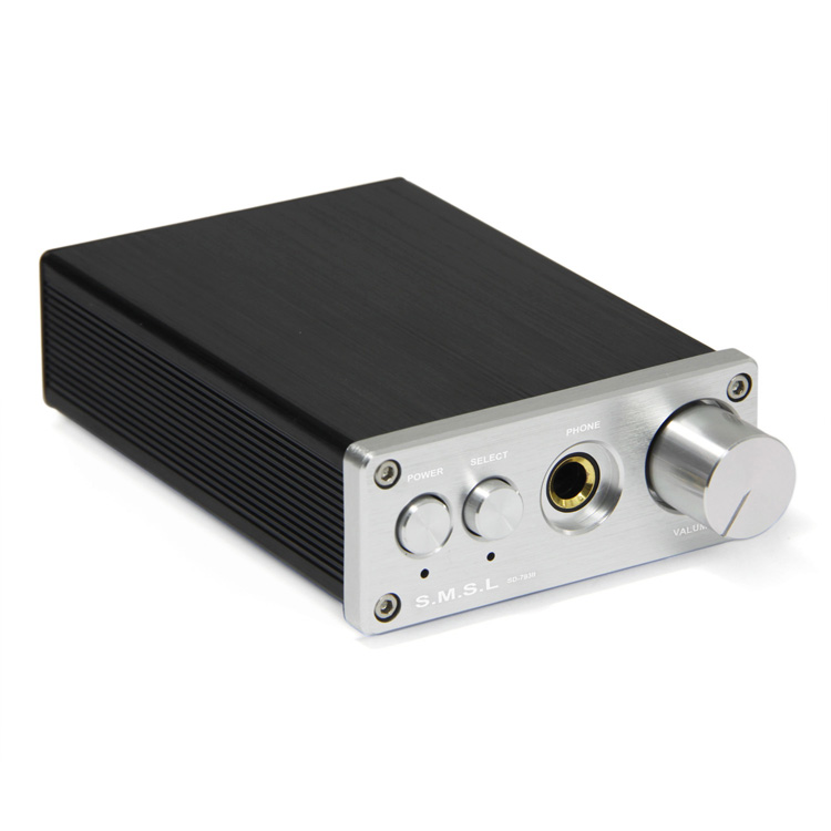 SMSL SD-793II DAC DIR9001+PCM1793+OPA2134 Coax/Optical Input + Headphone Amp Silver Amplifier