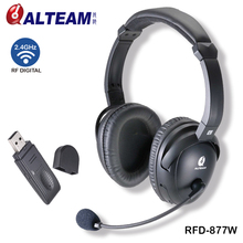 2.4GHz wireless gaming headphones with microphone and usb dongle
