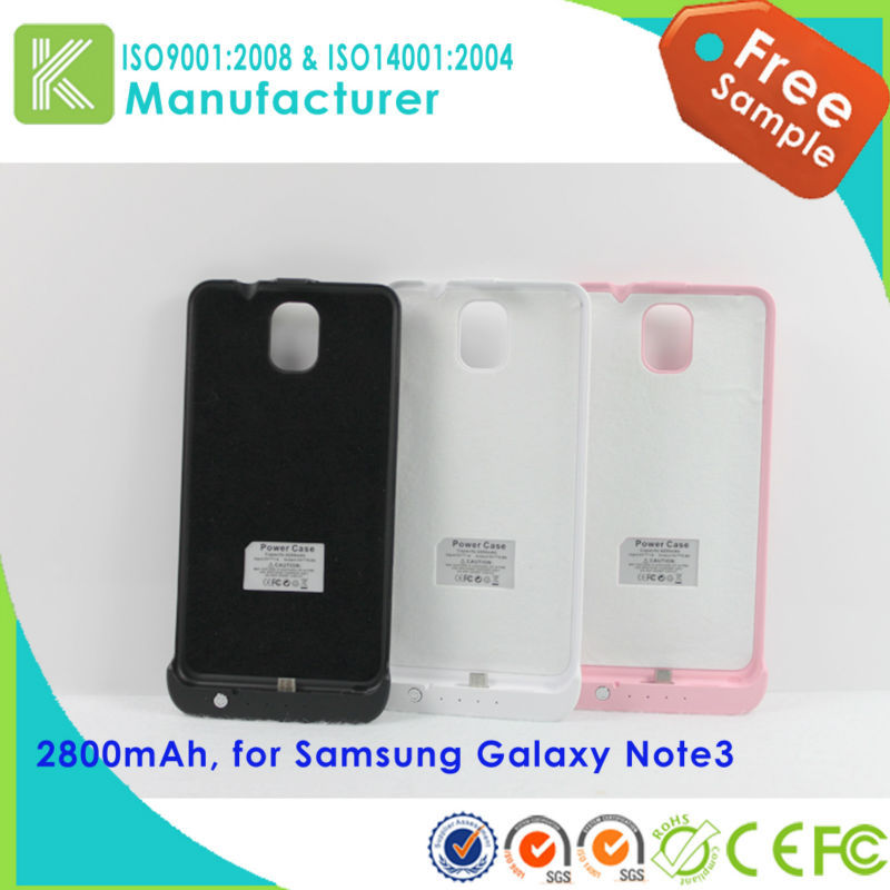 3800mAh external extended battery case for samsung galaxy note 3