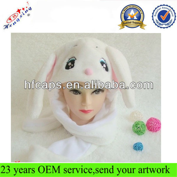2013 Soft and Warm Custom Child Lovely Animal Ear Winter Hat/ Winter Animal Hat with pockets IN STOCK
