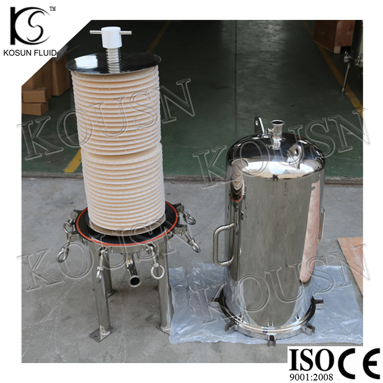 lenticular filter housing wine filtering machine
