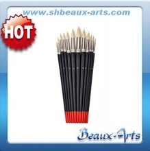 extra firm korea synthetic hair round head shape artist brush with different size high quality wooden handle
