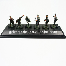 P72-6 miniature scale model soldier 6pices one set 1:72