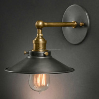 Loft iron black antique lighting industrial vintage wall sconce