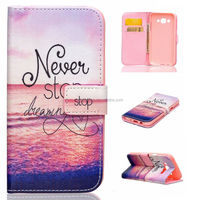 Cartoon PU leather flip cover case for Samsung galaxy J5