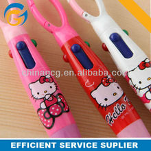 2013 Cartoon Cat Barrel Stylus Plastic Click Ball Pen