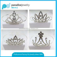 2016 newest bridal head crown with shinny rhinestone