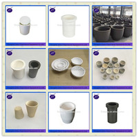 high quality refractory crucible for melting platinum, shock resistance gold melting graphite crucibles,fused silica crucible
