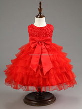Fashion Children Frocks Designs Ball Gown Ruffle Beaded Flower Girl Dress Patterns