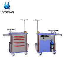 BT-EY001 High quality best sale factory discount cheap with 2 middle &amp; 1 big drawers emergency drugs trolley medical <strong>equipment</strong>