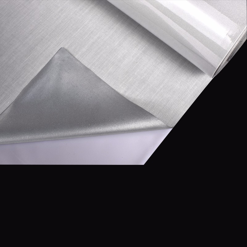 silver grey water resistant reflective cotton fabric for making clothing