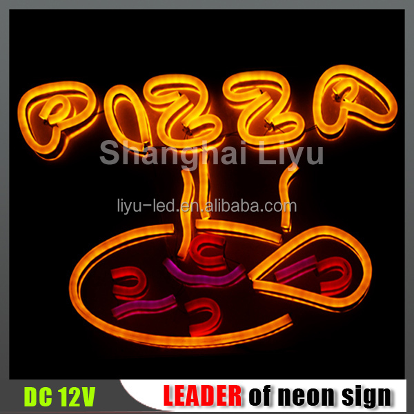 pizza logo design neon <strong>sign</strong> for wall decoration