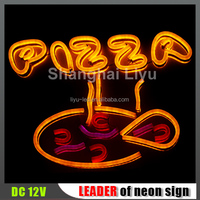 pizza logo design neon sign for wall decoration