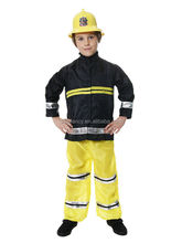 New Boys Kids Fireman Sam Fire Fighter Fancy Dress Up Costume Outfit XMAS Party Costume QBC-2205