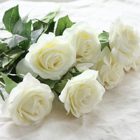 Latest Artificial Flowers Silk Flowers Floral Real Touch Rose Wedding Bouquet Flowers