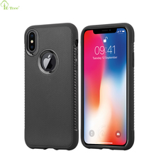 Non-slip Pattern Rubber TPU Bumper Back Cover Phone Case for Apple iPhone X