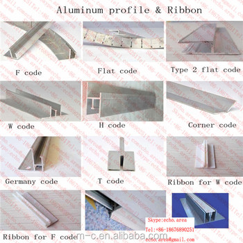 Aluminum profile for pvc sretch ceiling