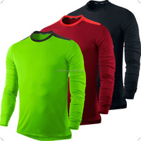 Long Sleeve Running Tops from all brands name,cool dry fit polyester spandex round neck custom men dry fit running shirt
