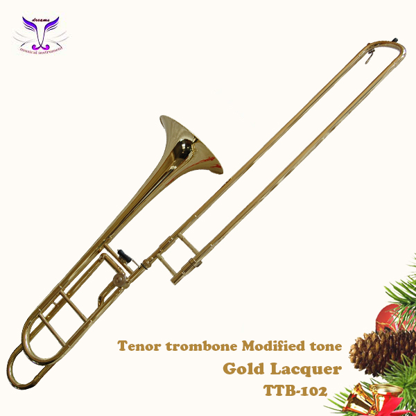 Bb/F tenor trombone from Chinese gold suppliers