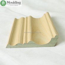 water proof wood veneer wrapping MDF cornice moulding