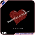 Custom heart shape rhinestone Iron On Transfer for Accessories