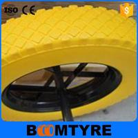 Hot selling with low price 14 inch non-pneumatic PU foamed wheel for hand trolley 3.50-8