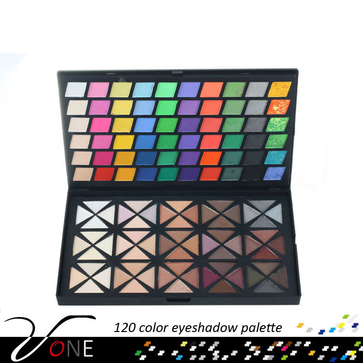 Fashion New Makeup Sets eyeshadow palette 120 warm and metal color