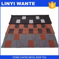 Light weight 0.4mm thickness stone coated panel roofs
