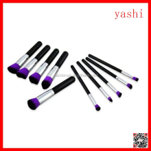YASHI promotion price color optional 10pcs makeup brush kit best gift for women
