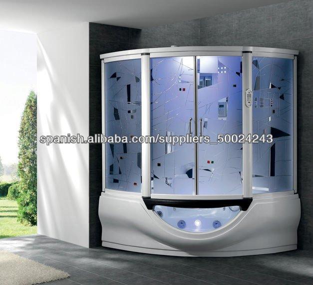 Acr lico blanco vapor cabina de ducha con sauna casa y for Duchas modernas precios
