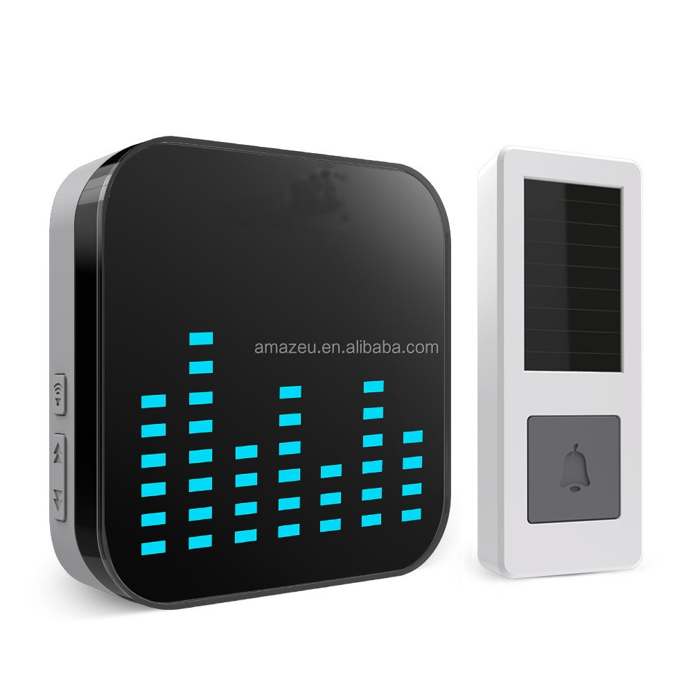 High-end Looking,Easy Plug and Play Wireless Modern Doorbell with 52 ringtones and 4 steps volume control