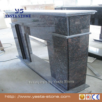 Yasta Black granite stone freestanding fireplace for indoor used