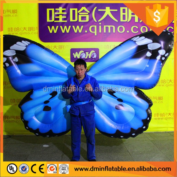 Big white inflatable angel wings, inflatable wings costume for sale
