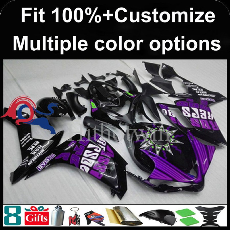 Injection mold purple Body motorcycle cowl for Yamaha YZF-<strong>R1</strong> 2007-<strong>2008</strong> 07 08 YZFR1 2007 <strong>2008</strong> 07-08 ABS Plastic <strong>Fairing</strong>