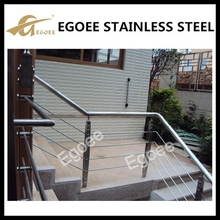 Outdoor 304 316 stainless steel stair hand railings for terrace