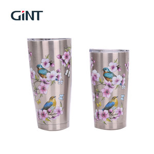 double wall stainless steel insulated coffee mug with lid