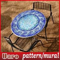 Mosaic Coffee Tables,Uaro Mosaic Table Top Marble top coffee table,Mosaic tile table top