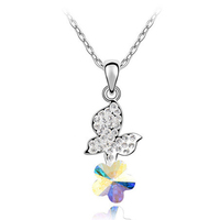 swarovski element jewelry wholesale necklace for girls new year gift
