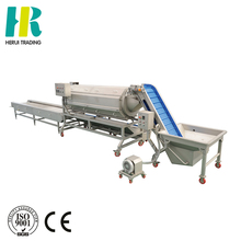 Continuous root vegetables peeler potato brush washing and peeling line