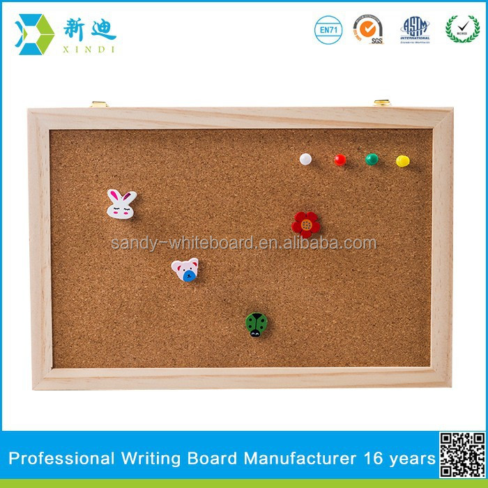 Lanxi xindi wood frame soft cork board order from china direct