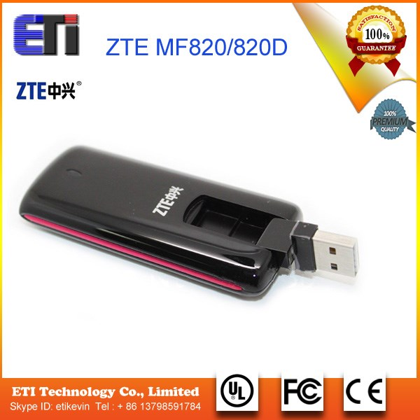 Hot-Sale New Original Unlock HSDPA 100Mbps ZTE MF820 Free Download Driver 4G HSPA USB Modem