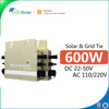 2017 free shipping Hot Sale On Grid Tie Solar Micro Inverter 600W Pure Sine Wave Power Inverter