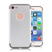 Metallic Plastic Bumper Phone Case 3 in 1 Phone Case Electroplating PC case for iphone 6/ 6 Plus